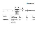 Geberit Duschrinne CleanLine20 Fertigset 30-90 cm 154450001 dunkel/edelstahl