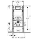 Geberit Duofix Wand-WC 112 cm UP100 / DELTA 51 weiss SPAR SET