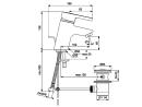 Ideal Standard Niederdruck Waschtischeinhebelmischer BASIC B0696AA mit Excenter
