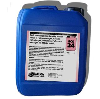 BCG 24 Flüssigdichter 5l bei Heizungs- Wasserverlust bis 30l Täglich 246002