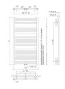 ECO-PLUS BAD-Heizkörper mit Mittelanschluss H825xB500 weiss