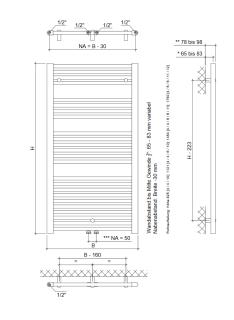 eco plus bad heizk rper mit mittelanschluss h825xb700 weiss w fisc 114 95. Black Bedroom Furniture Sets. Home Design Ideas