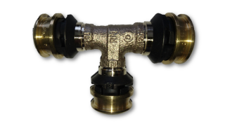 Viega Raxofix 647353 T-Stck Mod. 5318 Nr. 647353 25 x 16 x 20 mm Rotguss
