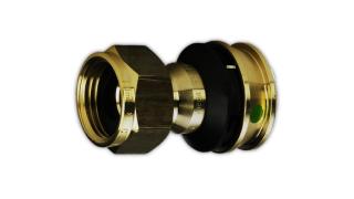 """Viega Raxofix Verschraubung Mod. 5363 Nr. 646417 16 mm x 3/4"""" flachd. Rotguss"""