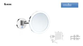 SMEDBO OUTLINE FK485E Kosmetikspiegel rund 5-fach LED Duallight