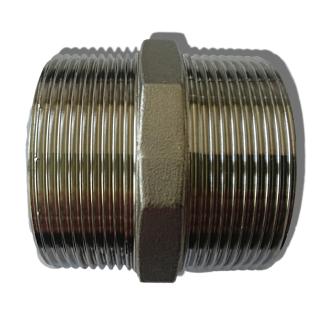 "Edelstahl Redu Doppelnippel 11/2""x11/4 V4A EF 245/FF 451 1.4404 (316) DIN 2999"
