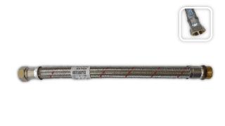 """Metalfex Panzerflexschlauch 3/4"""" AG  x 3/4"""" IG Überwurfmutter Länge 1000 (DN20 -3/4"""")"""