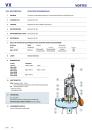 """Pedrollo VXm 10/50  Edelstahl VORTEX Trauchpumpe 33000/h 2""""IG mit Schwimmerschalter 750 W 5m Kabel"""