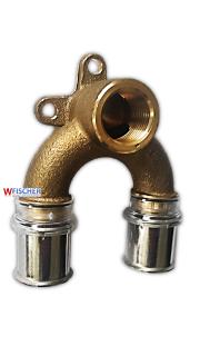 """Wavin Tigris M5  Doppel-Wandscheibe 20x1/2""""x20 Art. 4064413 für U+TH+H+B Kontour"""