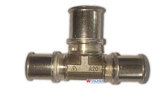Wavin Tigris M5 T-Stück DZR 16x20x16 Art. 4066106 für U+TH+H+B Kontour